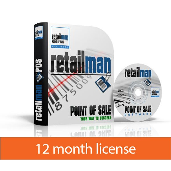 RetailMan POS: 12 month license