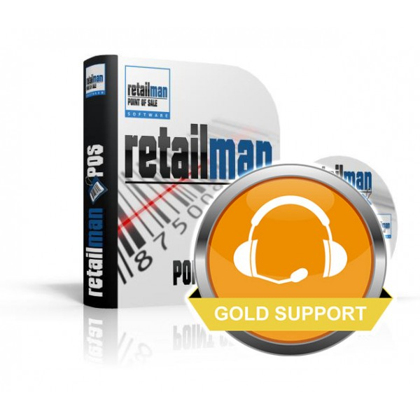 12 month Gold Support: RetailMan PoS Software