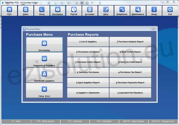 Retail Man POS Purchase module